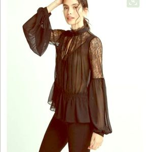 EXPRESS Victorian Inspired Blouse